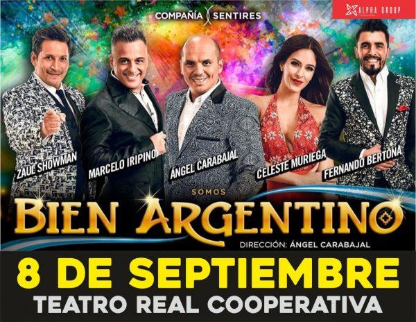 «Bien Argentino» se presenta este Domingo 8 en Rio Tercero