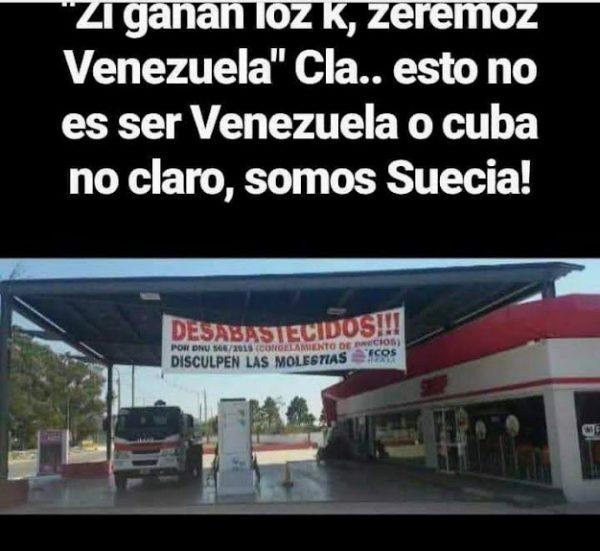 Una estación de servicio no expende combustible.La crisis de nuestro país.