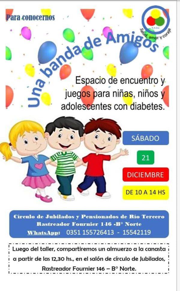 Diabetes … Encuentro este sábado 21 en el Circulo de Jubilados .