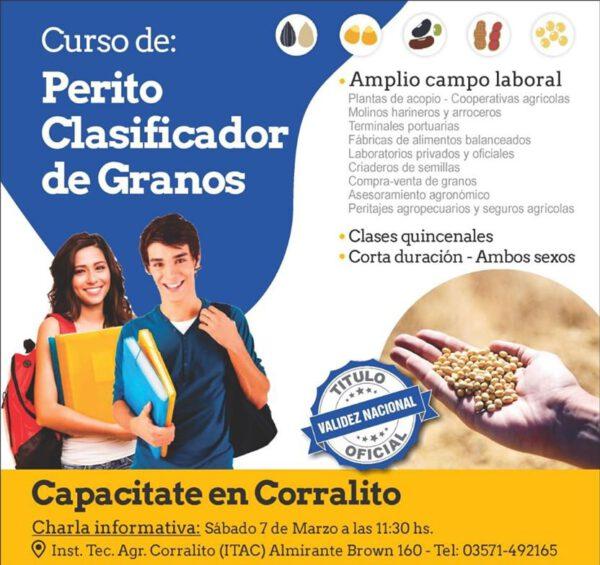 En Corralito: Curso Perito Clasificador de Granos.